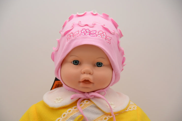 Limited Edition Soft Baby Girl 'Flowers' Hat Cotton Blend Infant 6-12 Months