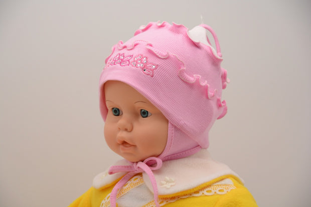 Limited Edition Soft Baby Girl 'Flowers' Hat Cotton Blend Infant 6-12 Months - Skidders.com
