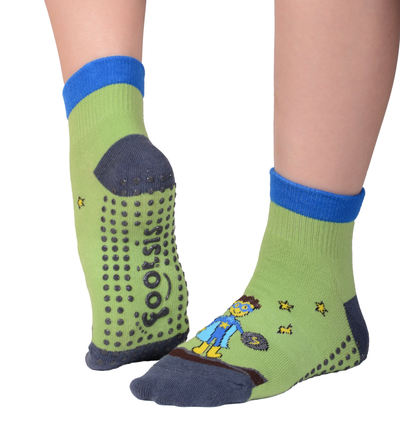 FOOTSIS Non Slip Grip Socks for Yoga, Pilates, Barre, Home, Hospital ,Mommy and Me classes 'Hero' - Footsis.com