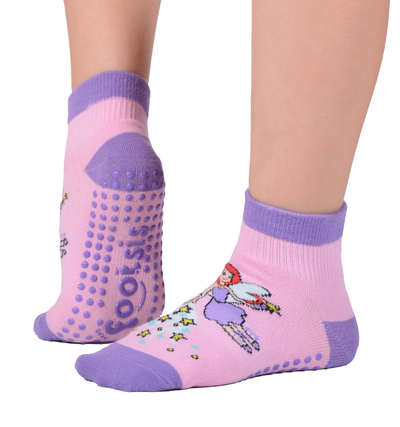 "FOOTSIS Non Slip Grip Socks for Yoga, Pilates, Barre, Home, Hospital ,Mommy and Me classes ""Fairy"" - Footsis.com"