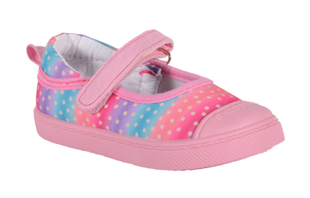SKIDDERS Baby Toddler Girl's Canvas Walking Mary Jane Shoes Style SK1070