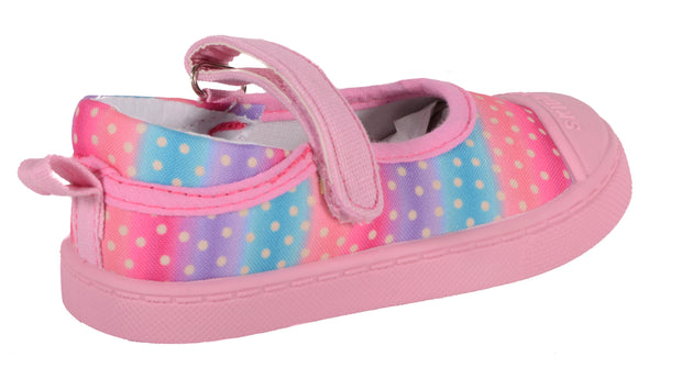 SKIDDERS Baby Toddler Girl's Canvas Walking Mary Jane Shoes Style SK1070 - Skidders.com