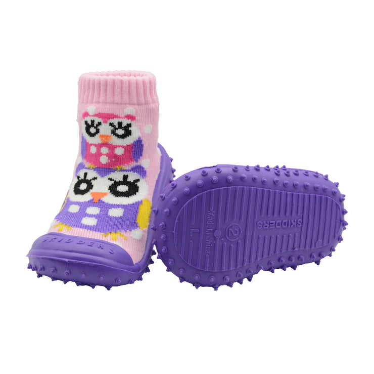 "Skidders New 2019 Collection Baby Toddler Girl Grip Shoes ""Owl"" - Skidders.com"