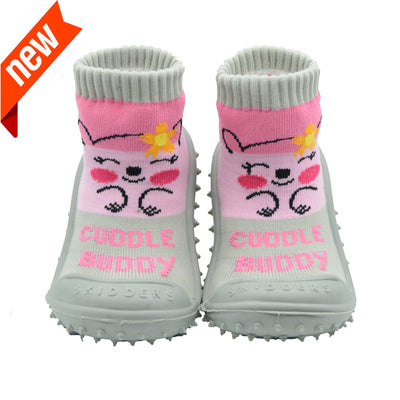 "Skidders New 2019 Collection Baby Toddler Girl Grip Shoes ""Cuddle Buddy"" - Skidders.com"