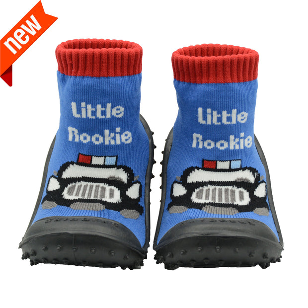 "Skidders Baby Toddler Boys Grip Shoes ""Little Rookie""Style SK1271"