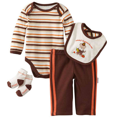 Vitamins Baby-Boys Newborn 4 Piece Creeper Pant Set