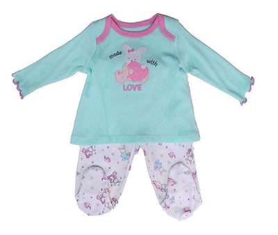 Vitamins Baby Bunny Made with Love Footed Pant Set - Skidders.com