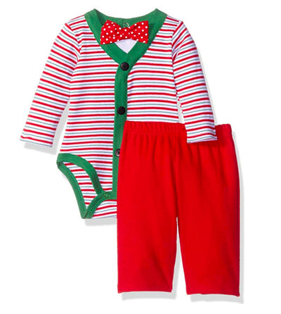 Vitamins Baby Baby Boys' Little Man Perfect Picture 3 Piece Creeper Pant Set