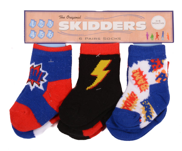 Skidders Baby Boys Ankle Socks 6 pk - XP1808