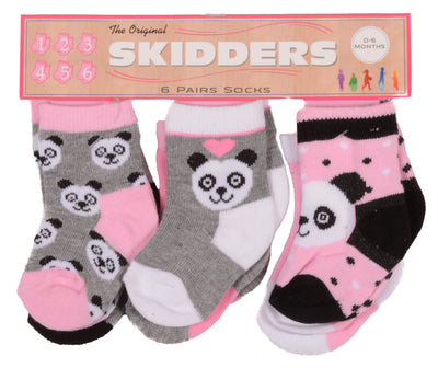 Skidders Baby Girls Ankle Socks 6 pk - XP2808