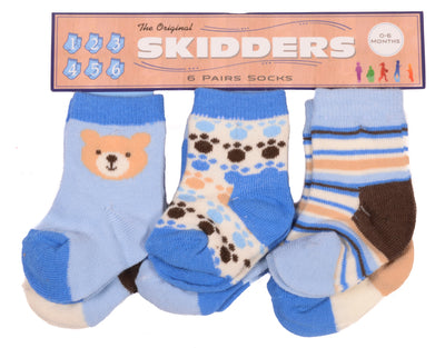 Skidders Baby Boys Ankle Socks 6 pk - XP1806