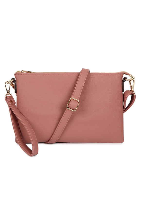 Catherine Crossbody/Wristlet Purse (Mauve)