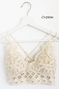 Padded Lace Bralette (Cream)