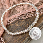 Bedeutungsvolles Silber Armband mit Om