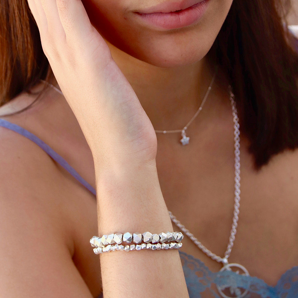 Silber Nugget Armband