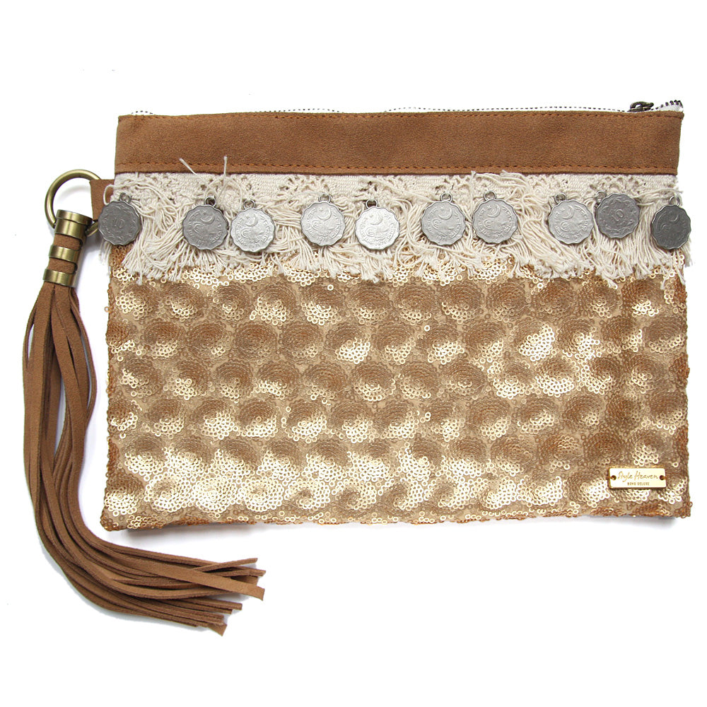 Laden Sie das Bild in den Galerie-Viewer, Santorini Clutch, cognac