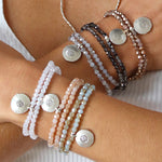 Kristall Armband mit Lotus - gold, doppelt Style Heaven