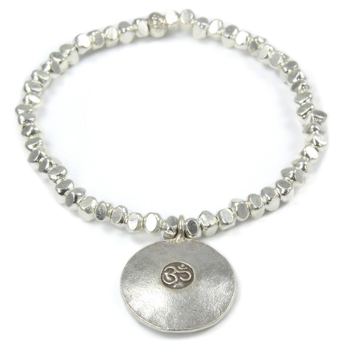 Silber Armband mit Om