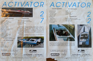 1989 27' Activator with Twin Mercury Racing 200 XS ROS (Auction Ended)
