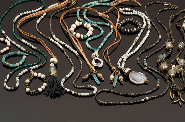 New Zealand jewelry collection by Betty James turquoise necklaces and bracelettes