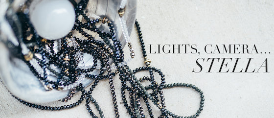 Lights Camera Stella photo of beautiful long stella necklaces piled on top of each other
