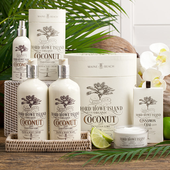 Organic Coconut Collection of body products.