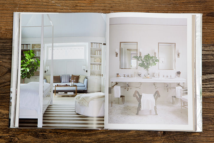 White bedroom and bathroom from In Pursuit Of Beauty