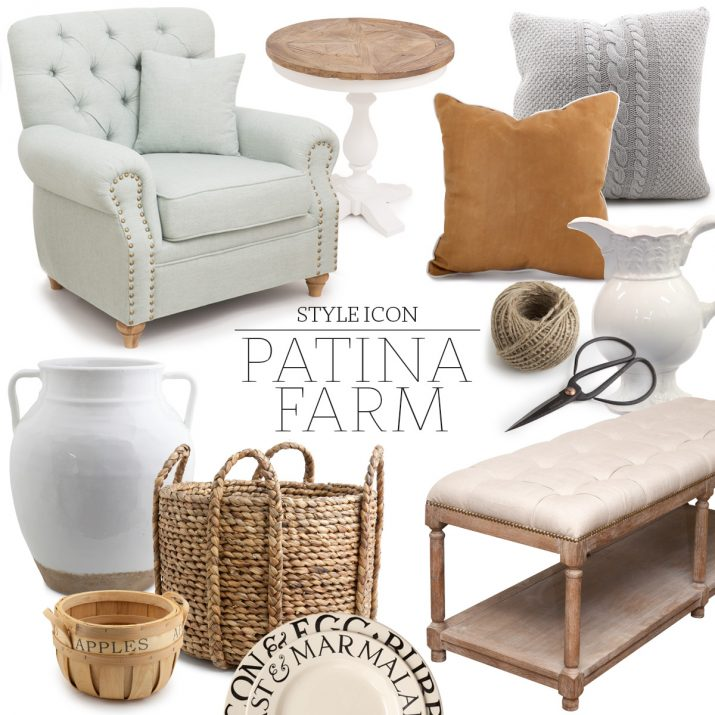 A collection of Alfresco Emporium products to get the Patina Farm look.
