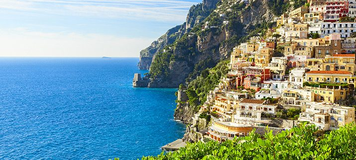 The stunning Positano coast.