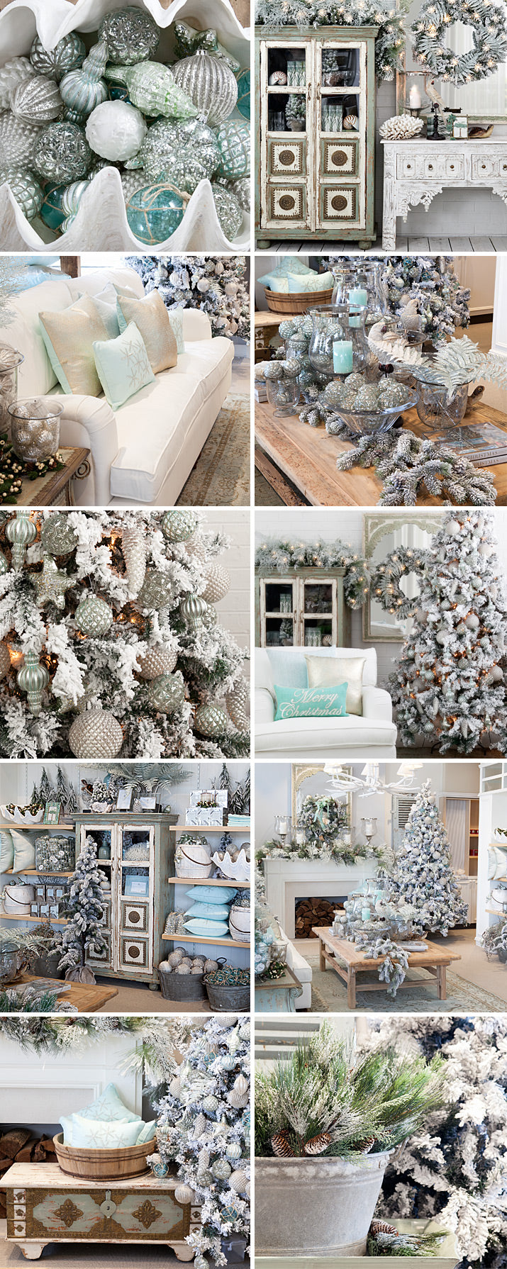 Coastal aqua Christmas Decorations/
