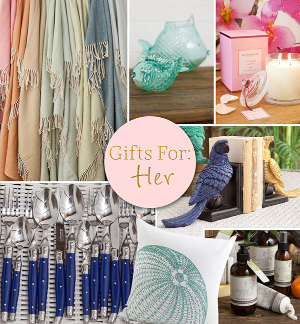Gift ideas for her from Alfresco Emporium.