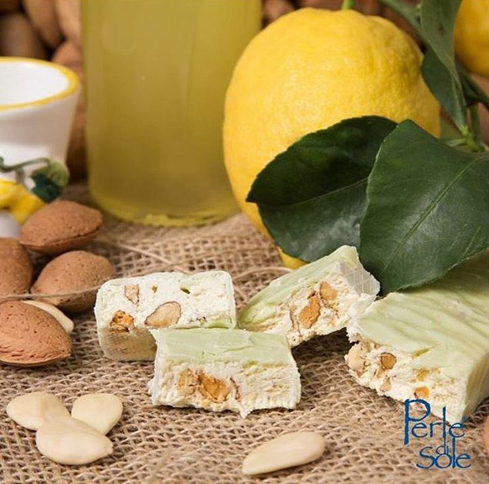 Perle Di Sole Limoncello Flavoured Soft Nougat 150g