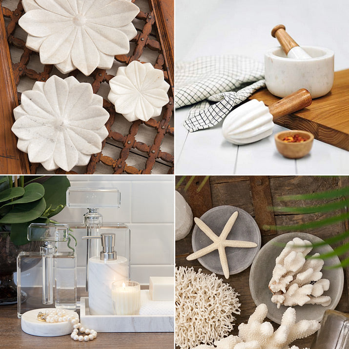 Styled marble products.