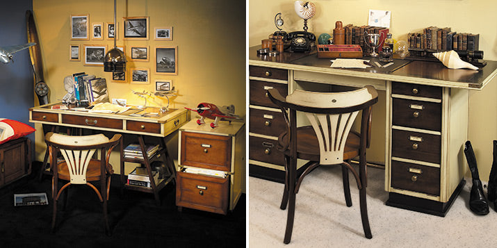 Mariner Desk has a masculine nautical vibe.