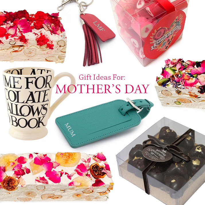 Chocolates, mugs, luggage tags, key chains and more.