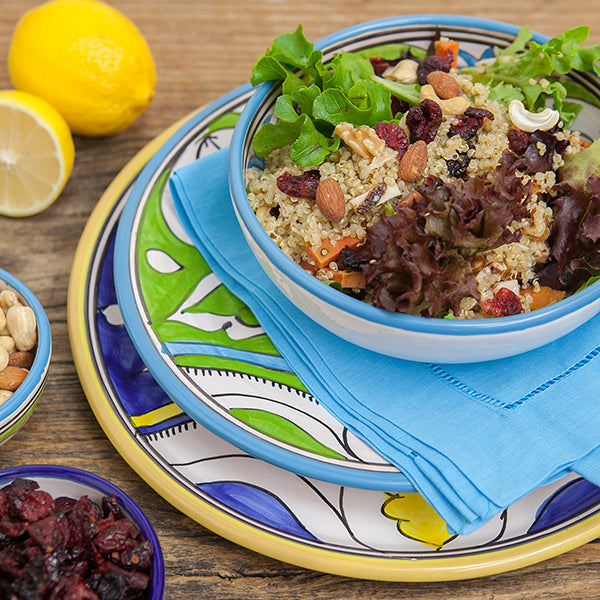 Quinoa salad in our Sol Collection dinnerware.