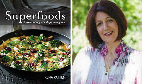 Rena Patten with her new book, Superfoods.