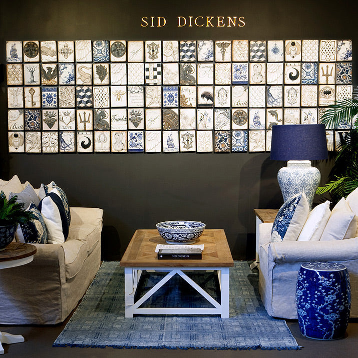 Sid Dickens Blue and White.