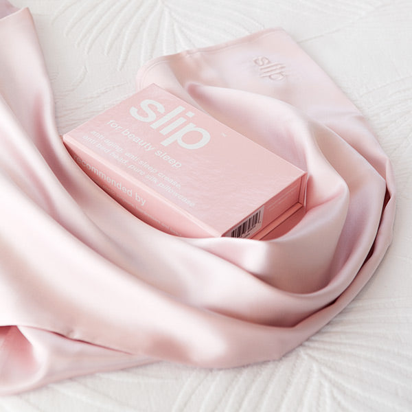 Pink Slip Silk Pillowcase
