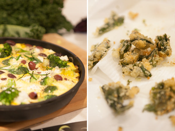 Broccoli, Olive & Feta Cheese Frittata