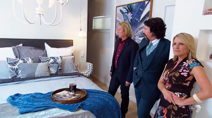 Aaron & Daniella's bedroom with judges.