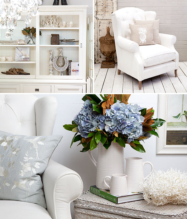 Collection of white rooms.