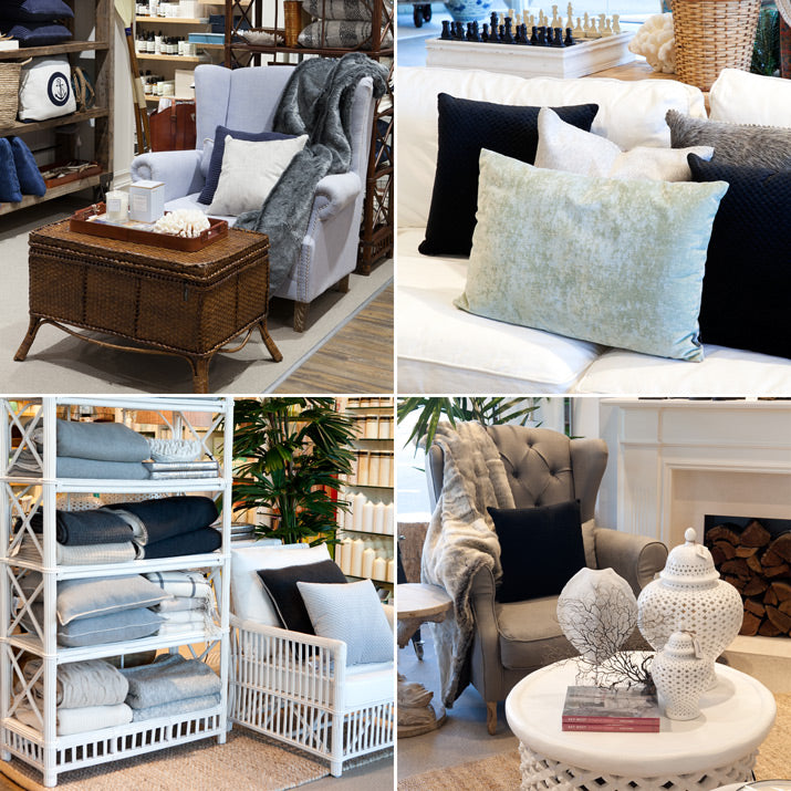 A selction of cushions and furnishing to keep you warm.