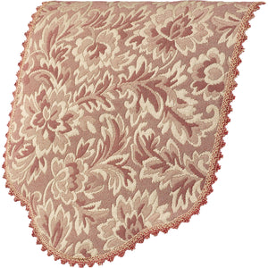 Traditional Floral Jacquard Pair of Arm Caps or Chairback (Various Colours)