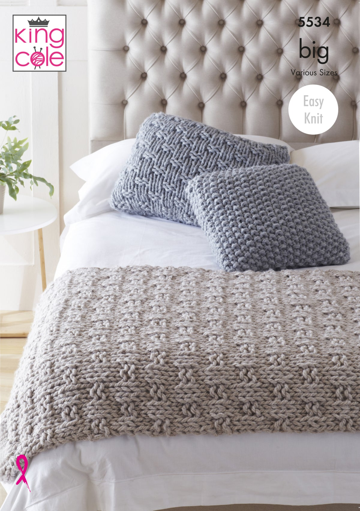 King Cole Super Chunky Knitting Pattern Bed Runner Cushions 5534 Classic Home Store