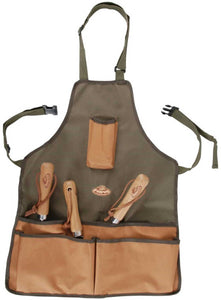 Tool Stool Kneeling Pad & Apron Gardening Set (Khaki/Brown)