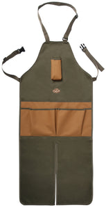 Tool Stool Kneeling Pad & Split Leg Apron Gardening Set (Khaki/Brown)