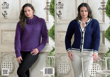 Load image into Gallery viewer, http://images.esellerpro.com/2278/I/983/45/KC3817-ladies-super-chunky-sweater-cardigan-knitting-pattern.jpg
