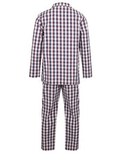 Load image into Gallery viewer, http://images.esellerpro.com/2278/I/186/139/WR2813-walker-reid-mens-navy-check-pyjamas-pjs-set-2.jpg