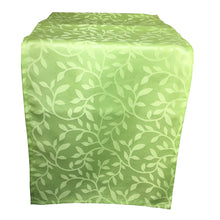 Load image into Gallery viewer, http://images.esellerpro.com/2278/I/188/689/bowden-leaf-pattern-table-runner-green.JPG